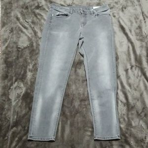 VINCE CAMUTO TWO GRAY DISTRESS WASH SKINNY JEANS